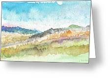 New Morning- Watercolor Art By Linda Woods Greeting Card