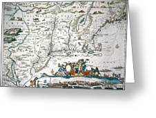 New Netherland Map Greeting Card