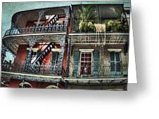 New Orleans Balconies No. 4 Greeting Card
