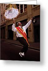 New Orleans Brass Band Leader Greeting Card