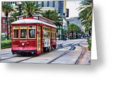 New Orleans Canal Streetcars  Greeting Card