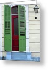 New Orleans Door 11 Greeting Card