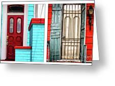 New Orleans Doorways Diptych One Greeting Card