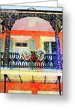 New Orleans French Quarter Balcony Greeting Card