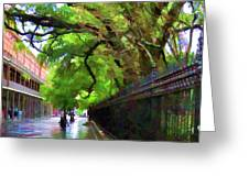 New Orleans French Quarter Paint  Greeting Card