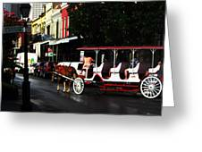 New Orleans Horse Carriage Greeting Card