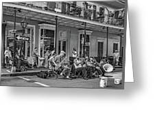New Orleans Jazz 2 - Bw Greeting Card