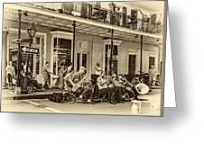 New Orleans Jazz 2 - Sepia Greeting Card