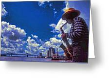 New Orleans Jazzman Greeting Card