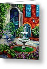New Orleans Painting Brulatour Got A Penny Greeting Card