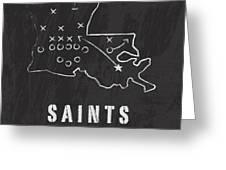 New Orleans Saints Art - Nfl Football Wall Print Greeting Card by Damon Gray