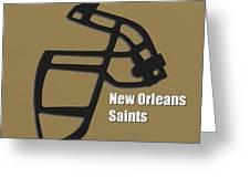 New Orleans Saints Retro Greeting Card