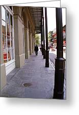 New Orleans Sidewalk 2004 Greeting Card