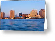 New Orleans Skyline From Algiers Point Greeting Card