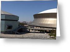 New Orleans Sports And Entertainment Complex Greeting Card