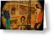 New Orleans Street Band Greeting Card