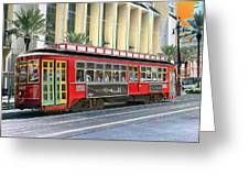 New Orleans Street Car Greeting Card