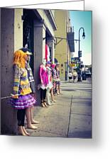 New Orleans Street Mannequins Greeting Card