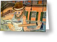 New Orleans Street Musician Greeting Card