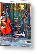 New Orleans Street Musicians Greeting Card