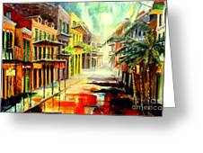 New Orleans Summer Rain Greeting Card