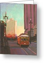 New Orleans Trolley Greeting Card