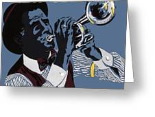 New Orleans, Trumpeter Greeting Card