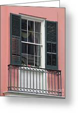 New Orleans Windows 4 Greeting Card