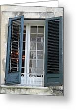 New Orleans Windows 5 Greeting Card