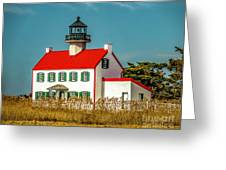 New Paint On East Point Lighthouse Greeting Card