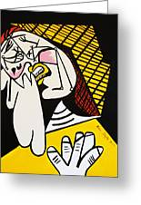 New Picasso The Weeper 2 Greeting Card