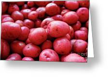 New Red Potatoes For Sale In A Market Greeting Card