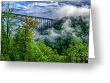 New River Gorge Bridge Morning  Greeting Card