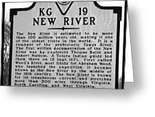 New River Historical Marker Greeting Card