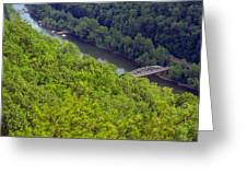 New River Old Bridge Greeting Card