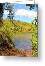 New River Views - Bisset Park - Radford Virginia Greeting Card