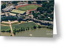 New Rochelle High School Aerial Photo Greeting Card