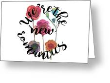 New Romantics Greeting Card
