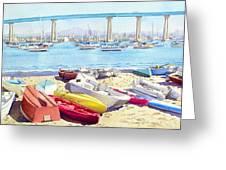 New Tidelands Park Coronado Greeting Card by Mary Helmreich