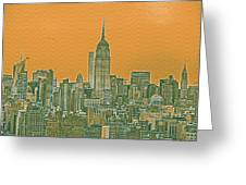 New Tork City Ny Travel Poster 4 Greeting Card