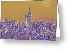 New Tork City Ny Travel Poster 5 Greeting Card