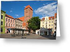 New Town Square In Torun Greeting Card