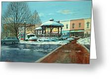 Triangle Park In Winter Greeting Card