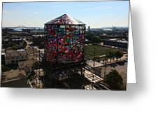 Stained Glass Water Tower In Milwaukee Greeting Card