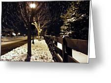 New Winter Snow Greeting Card