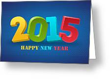 New Year 2015 Greeting Card