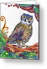 New-year Owl Greeting Card