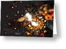 New Year Sparklers Greeting Card