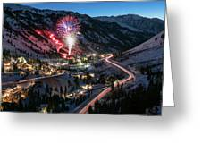 New Year's Eve At Snowbird Greeting Card