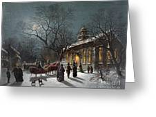 New Years Eve, C1876 Greeting Card by Granger
